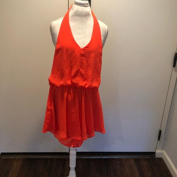 Lush Pants - Bright orange jumper size Large